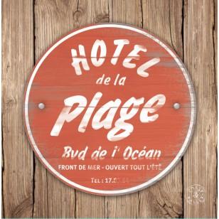 Tableau Hotel de la Plage Rouge 40 x 40