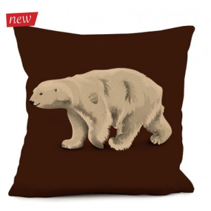 Coussin Ours Blanc 2 40 x 40