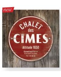 Tableau Chalet Cimes 40 x 40