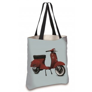 Cabas Scooter Rouge Bleu 45x45