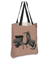Cabas Scooter Kaki Rose 45x45
