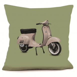Coussin Scooter Rose Vert 40 x 40
