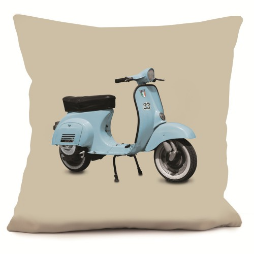 coussin scooter bleu beige 40 x 40 coast and valley. Black Bedroom Furniture Sets. Home Design Ideas