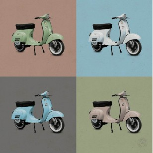 Tableau Pop Scooter 1 100 x 100