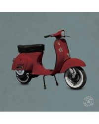 Tableau Scooter Rouge Gris 40 x 40