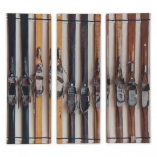 Tableau Skis Vintage Tryptique - Inspiration montage