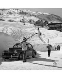 Tableau Retour du Ski Série Limitée Machatschek 40 x 40