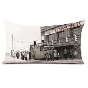 Coussin Arrivée au Chalet 40 x 68