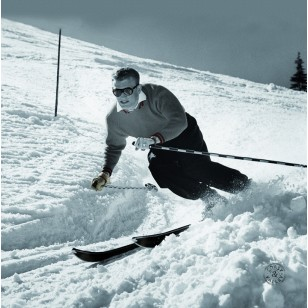 Tableau Ski Man 40 x 40