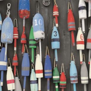 Tableau Cabanes Pêcheurs 40 x 40
