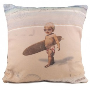 Coussin Back to surf school 40 x 40 - Coussin gamme bord de mer