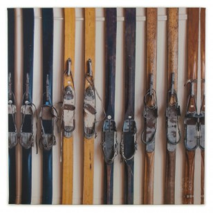 Tableau Skis Vintage 100 x 100