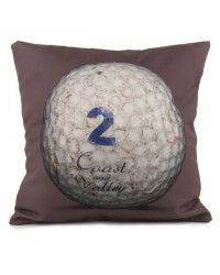 Coussin Golf Ball 2 Marron 40 x 40