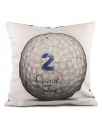 Coussin Golf Ball 2 Blanc 40 x 40