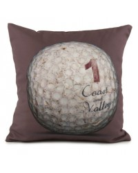 Coussin Golf Ball 1 Marron 40 x 40