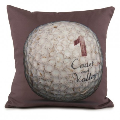 coussin golf ball 1 marron 40 x 40 coast and valley. Black Bedroom Furniture Sets. Home Design Ideas