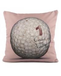 Coussin Golf Ball 1 Rose 40 x 40