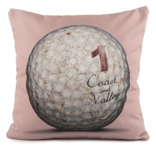 coussin golf ball 1 rose 40 x 40 coast and valley. Black Bedroom Furniture Sets. Home Design Ideas