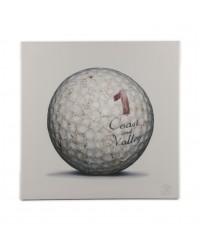 Tableau Golf Ball Blanc 1 40 x 40