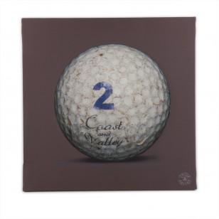 Tableau Golf Ball Marron 2 40 x 40