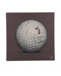 Tableau Golf Ball Marron 1 40 x 40