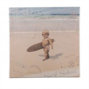 Tableau Back to Surfschool 40 x 40