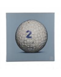 Tableau Golf Ball Bleu 2 40 x 40