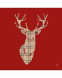 Tableau Cerf Anglais 2 40 x 40
