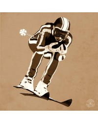 Tableau Skieur Sepia 40 x 40