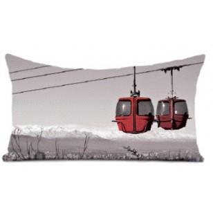 Coussin Ski Room Noir et Blanc 40 x 68