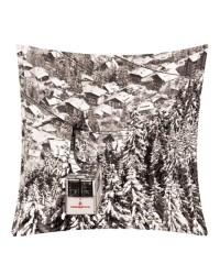 Coussin Megève Rochebrune Noir et Blanc 40 x 40