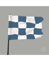 Tableau Damier Bleu 40 x 40