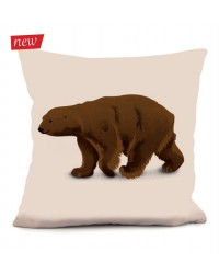 Coussin Ours Brun 2 40 x 40