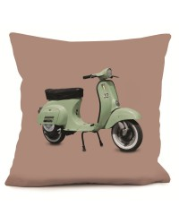 Coussin Scooter Vert Rose 40 x 40