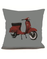 Coussin Scooter Rouge Gris 40 x 40