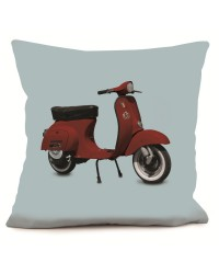 Coussin Scooter Rouge Bleu 40 x 40