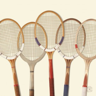 Tableau Tennis Vintage 100 x 100