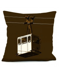 Coussin Cabine Chocolat 40 x 40