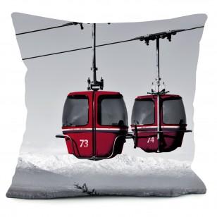 coussins décoration montagne chalet ski club cabine