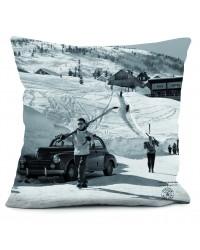 Coussin Retour du Ski Série Limitée Machatschek 40 x 40