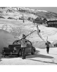 Tableau Retour du Ski 80x80