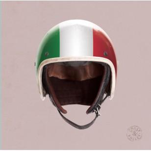 Tableau Casque Italie Rose 40 x 40