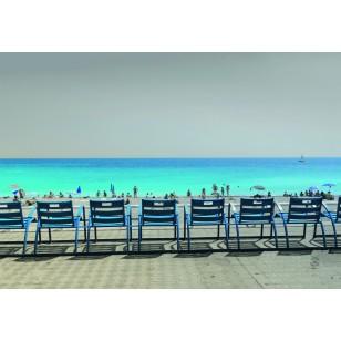 Tableau Chaises Bleues 120X80