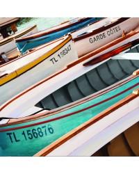 Tableau Barques 40 x 40