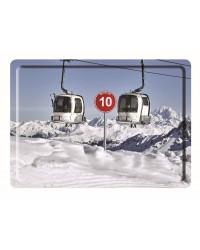 Plateau Christian Arnal Mouflon Blanc 40*30