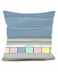 Coussin Cabines de Plage Collection Georges Felix Cohen 40 x 40