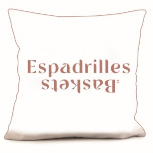 RECTO Coussin Teams Espadrilles vs Baskets 40 x 40