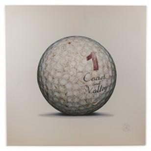 Tableau Golf Ball Blanc 1 100 x 100