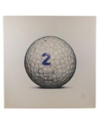 Tableau Golf Ball Blanc 2 100 x 100