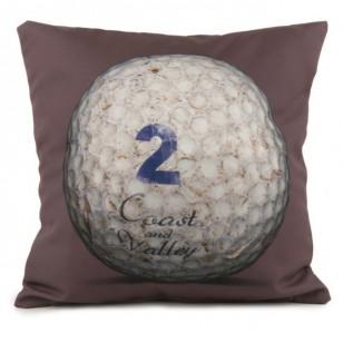 Coussin Golf Ball 2 Marron 40 x 40